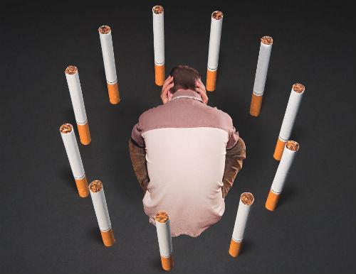 В окружении сигарет