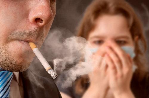 Курении в помещении