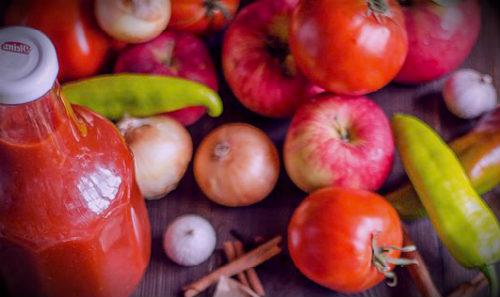 помидоры и яблоки кетчуп
