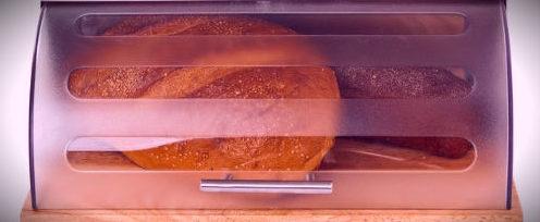 хлеб хранящийся в хлебнице