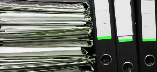папки с документами дома