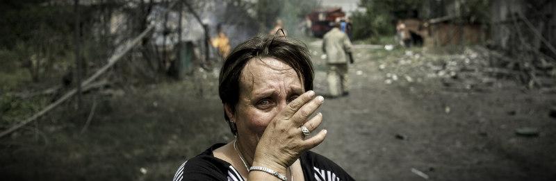 женщина убитая горем